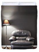Armchair And Floor Lamp Duvet Cover