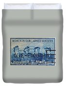 Armed Services Women Stamp Duvet Cover
