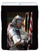 Armored Joust Knight Duvet Cover