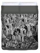 Army Air Corp Over Manhattan Duvet Cover