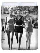 Army Bathing Suit Trio Duvet Cover