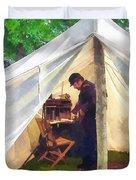 Army - Civil War Officer's Tent Duvet Cover