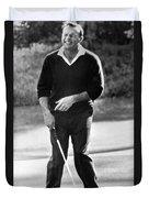 Arnold Palmer Misses A Putt Duvet Cover