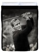 Arnold Palmer Pro-am Golf Photo Pebble Beach Monterey Calif. Circa 1960 Duvet Cover