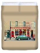 Aromate Resto Cafe Rue St Jacques St Henri  Montreal Urban Food City Scenes Carole Spandau Duvet Cover