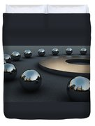 Around Circles Duvet Cover