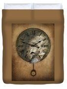 Around The Clock-time Is Flying Duvet Cover
