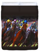 Around The Turn They Come Duvet Cover