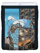 Around The World In Nyc Duvet Cover