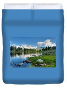 Arpy Lake - Aosta Valley Duvet Cover
