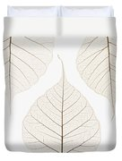 Arranged Leaves Duvet Cover