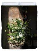 Arrangement Of White Flowers Duvet Cover
