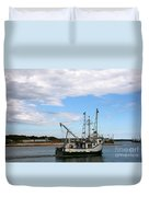 Arriving At The Harbor Duvet Cover