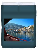 Arriving At Hydra Duvet Cover