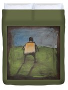 art critic relieves himself on Rothko's field Duvet Cover