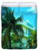 Art Deco Barbizon Hotel Miami Beach Duvet Cover