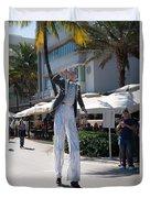 Art Deco Festival Street Scenes Duvet Cover