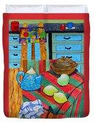 Art In The Kitchen Duvet Cover