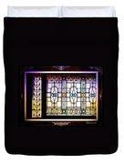 Art-nouveau Stained Glass Window Duvet Cover