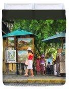Art Show In San Juan Duvet Cover
