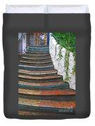 Artful Stair Steps Duvet Cover