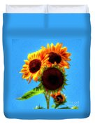 Artful Sunflower Duvet Cover