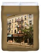 Arthur Avenue In The Bronx Duvet Cover
