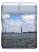 Arthur Ravenel Bridge Duvet Cover