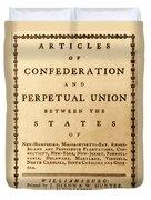 Articles Of Confederation, 1777 Duvet Cover