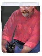 Artist At Play Duvet Cover