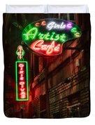 Artist Cafe Duvet Cover