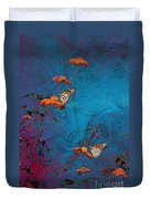 Artistic Butterflies Duvet Cover