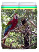 Artistic Wild Hawaiian Parrot Duvet Cover