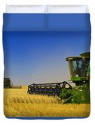 Artists Choice Two Combine Harvesters Duvet Cover