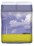 Artists Choice Wind Turbine And Canola Duvet Cover