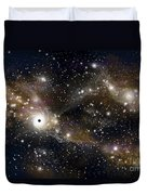 Artists Concept Of A Black Hole Duvet Cover by Marc Ward