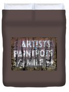 Artists' Paintpots Sign Duvet Cover