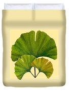 Arts And Crafts Movement Ginko Leaves Duvet Cover