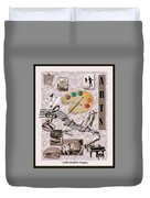 Arts Collage Duvet Cover