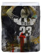 Arturo Vidal - B Duvet Cover