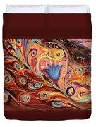 Artwork Fragment 104 Duvet Cover by Elena Kotliarker