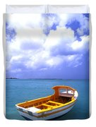 Aruba. Fishing Boat Duvet Cover by Anonymous