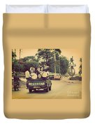 Arusha. Tanzania. Africa. A Group Of Young Men Celebrating Their Graduation Duvet Cover