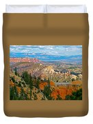 As Far As The Eye Can See From Farview Point In Bryce Canyon-utah   Duvet Cover