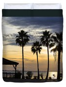 As The Sun Sets South Padre Island Texas Duvet Cover