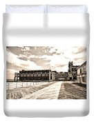 Asbury Park Boardwalk And Convention Center Duvet Cover