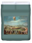 Ascent Of A Balloon In The Presence Of The Court Of Charles Iv Duvet Cover