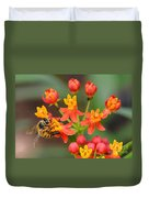 Asclepias Curassavica And Bee Duvet Cover