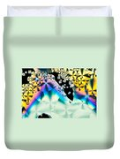 Ascorbic Acid Crystals In Polarized Light Duvet Cover