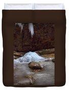 Ash Cave Frozen Over Duvet Cover